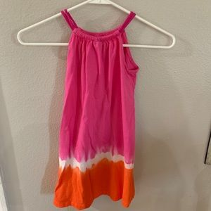 Orange and Pink Cotton tank Dress